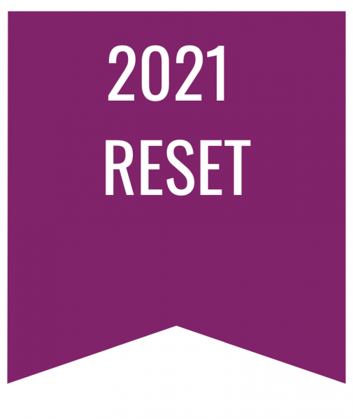2021 reset in white text on purple bookmark