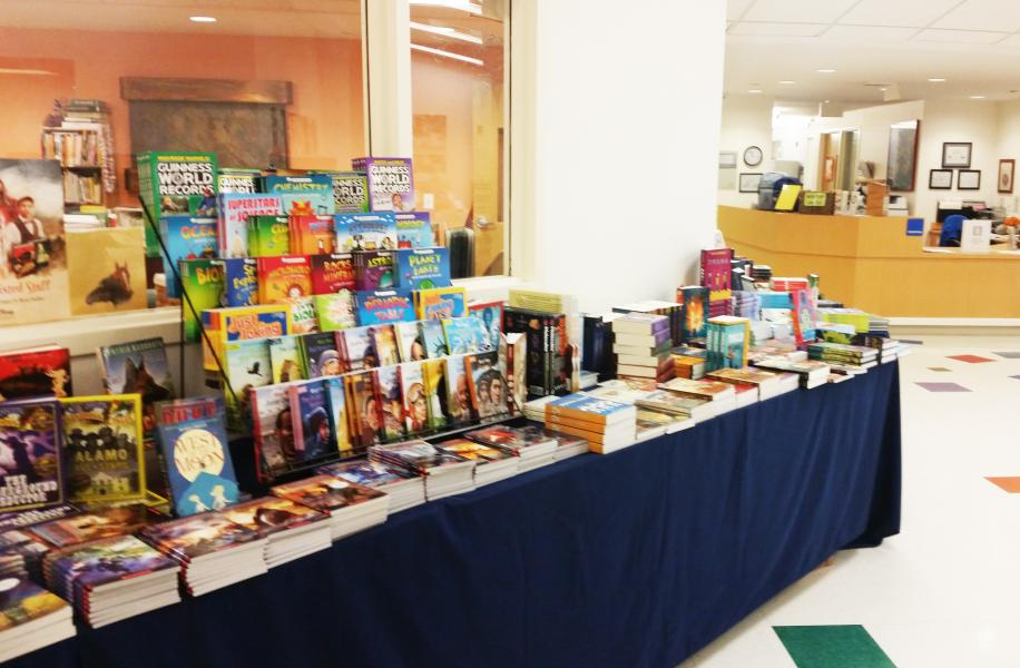 book display at book fair