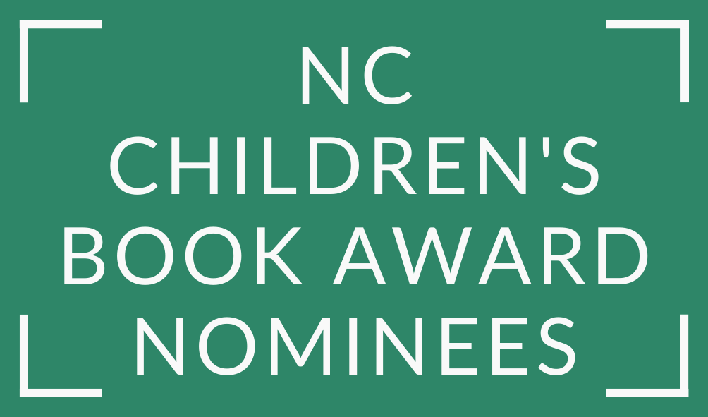 White text North Carolina Children's Book Award Nominees on Green Background