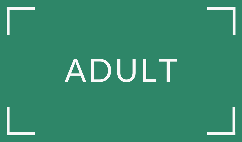Book Fair Adult in white letters on green background