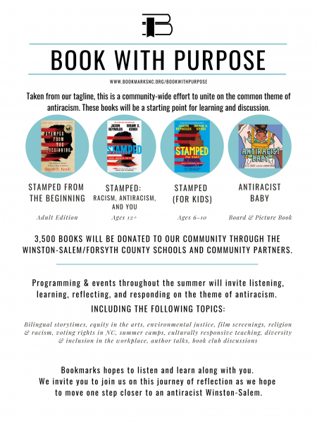 book with purpose event flyer