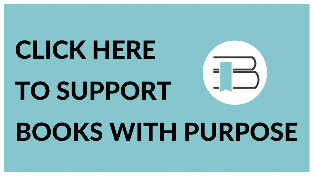 Text: Click here to support books with purpose