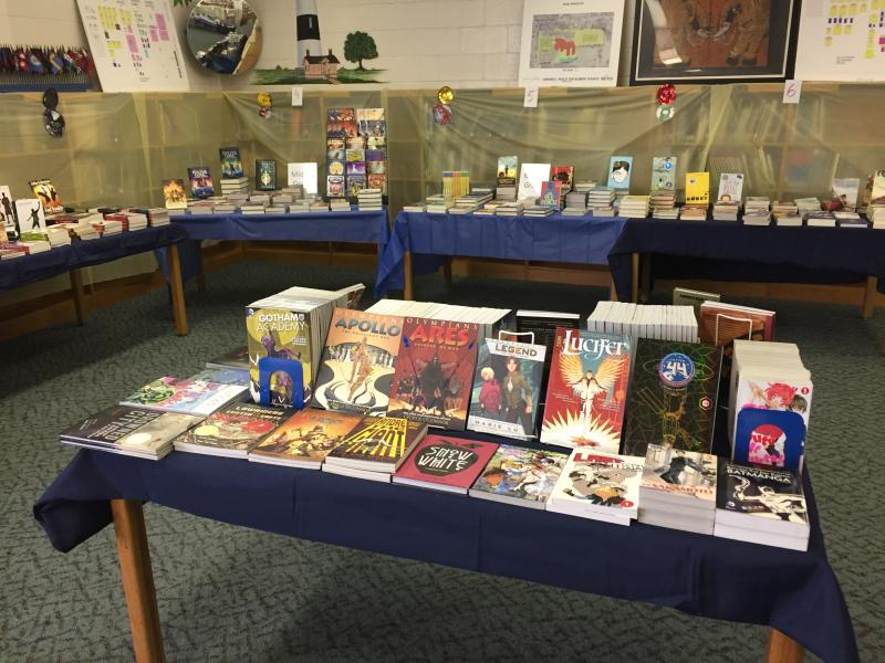 Books on display at book fair