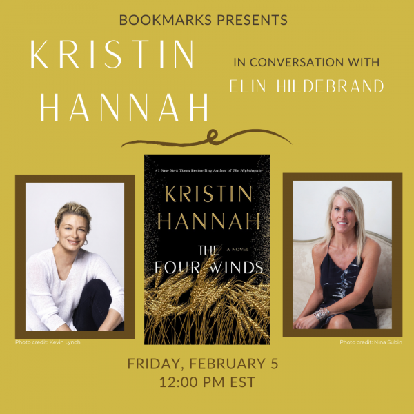 author kristin hannah and new book cover the four winds