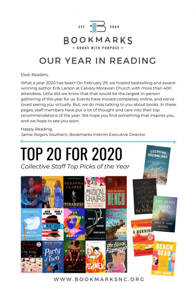 Cover image of Our Year in Reading - introductory letter and then top 20 for 2020