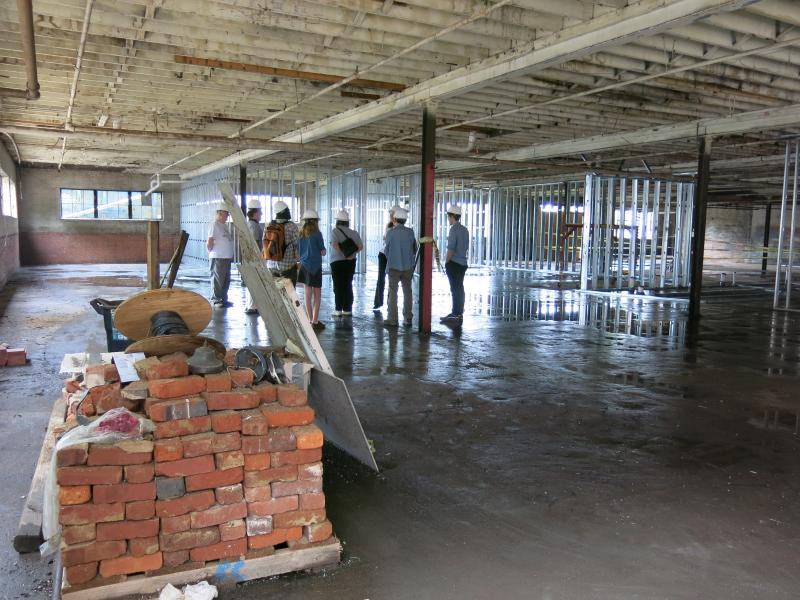 Photo of renovation at new Bookmarks location